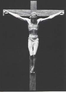 Even if Charles Villandre was perfectly aware of the nudity of Jesus on the cross, he did not dare leave off the traditional loincloth that all artists before him had prudently placed. (6398 bytes)